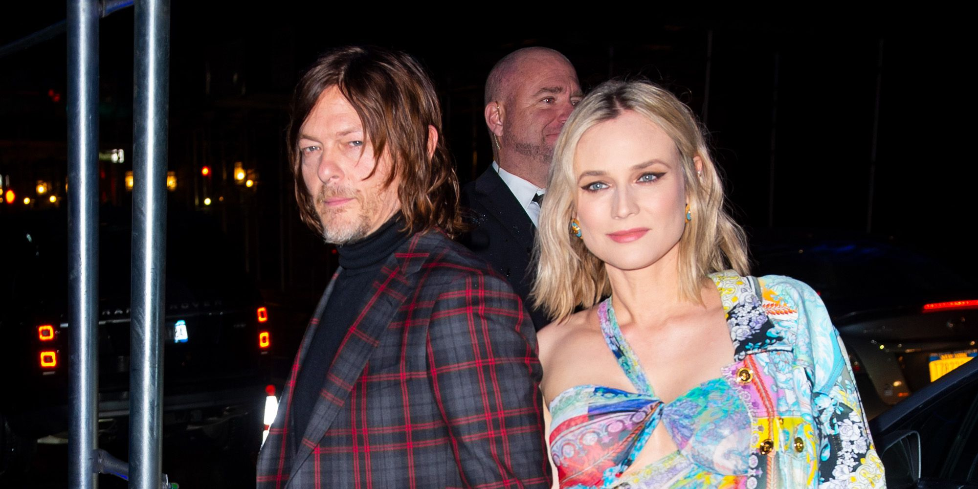 Diane Kruger en Norman Reedus bij Versace Pre-Fall 2019 show in New York