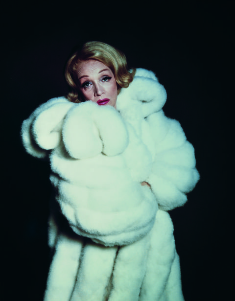 german actress marlene dietrich 1901   1992 wearing a white fur coat, circa 1955  photo by archive photosgetty images