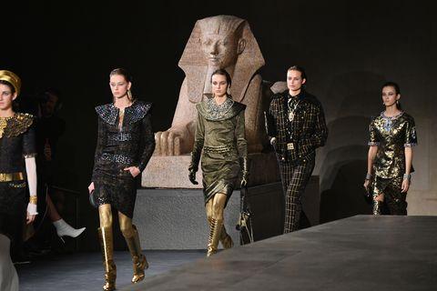 Fashion, Runway, Fashion show, Fashion design, Fashion model, Event, Design, Performance, Military, Haute couture,
