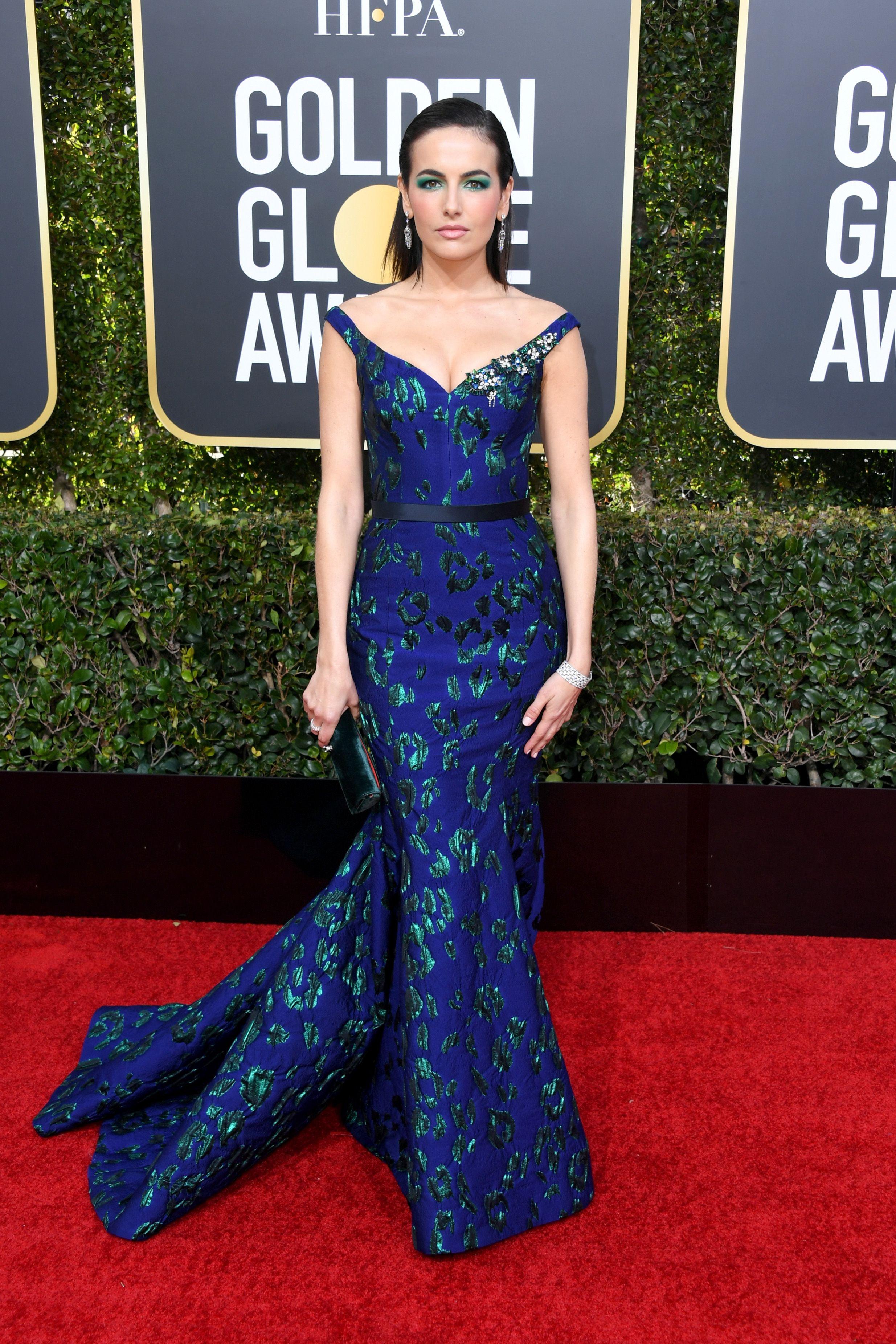 Camilla Belle Golden globes red carpet