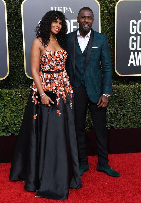Golden Globes 2019, celebritykoppels, rode loper
