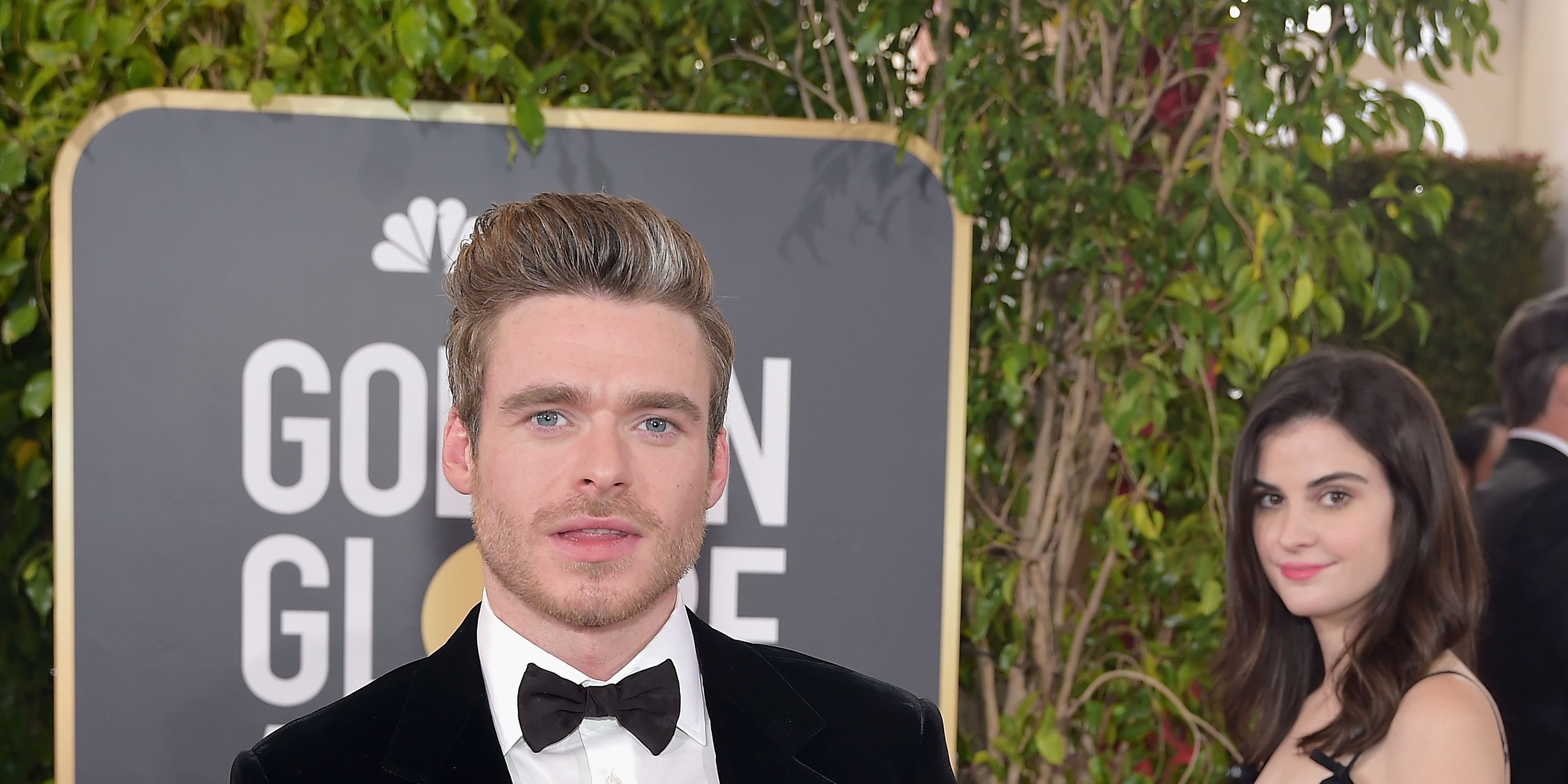 Richard Madden and Fiji water girl, Golden Globes 2018