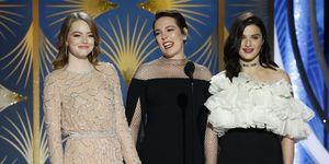Emma Stone, Olivia Colman and Rachel Weisz