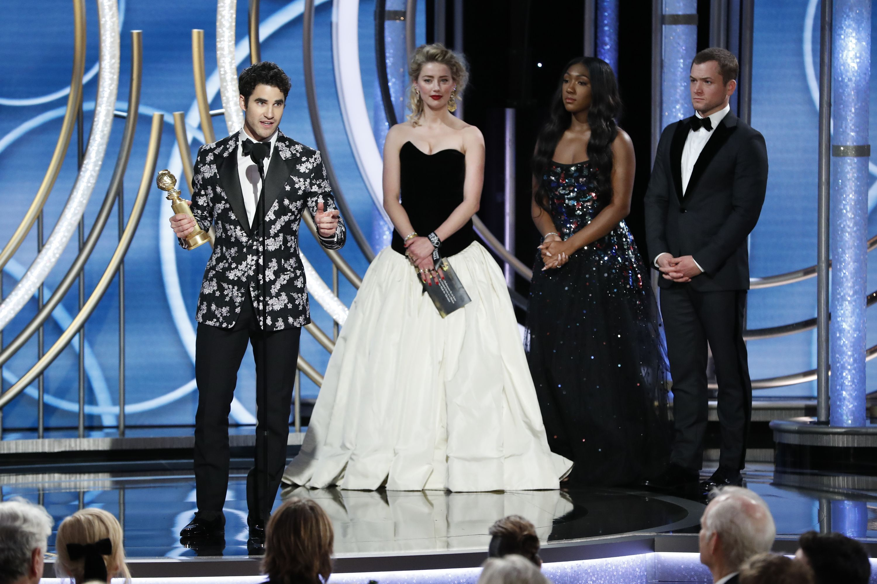 "Amber Heard Called Darren Criss ""Daniel"" While Presenting Him with an Award, So Yeah...Awk Times"