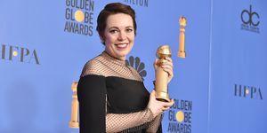 Olivia Colman Best Actress winner at the Golden Globes