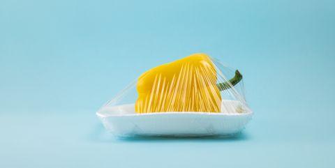 Yellow, Food, Junk food, Cuisine, Vegetarian food, Dish, Plastic,