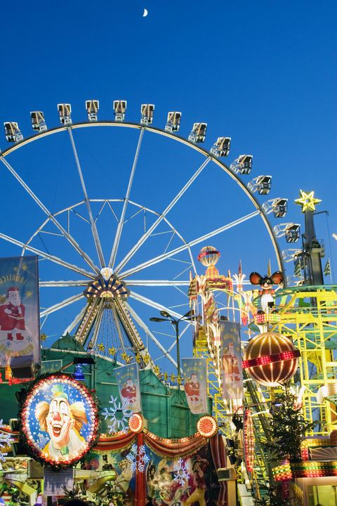 christmas carnival in east side of berlin, amusement park