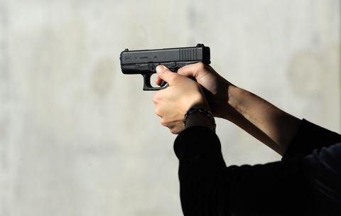 Gun, Firearm, Trigger, Combat pistol shooting, Revolver, Practical shooting, Gun accessory, Shooting, Recreation, Airsoft gun,