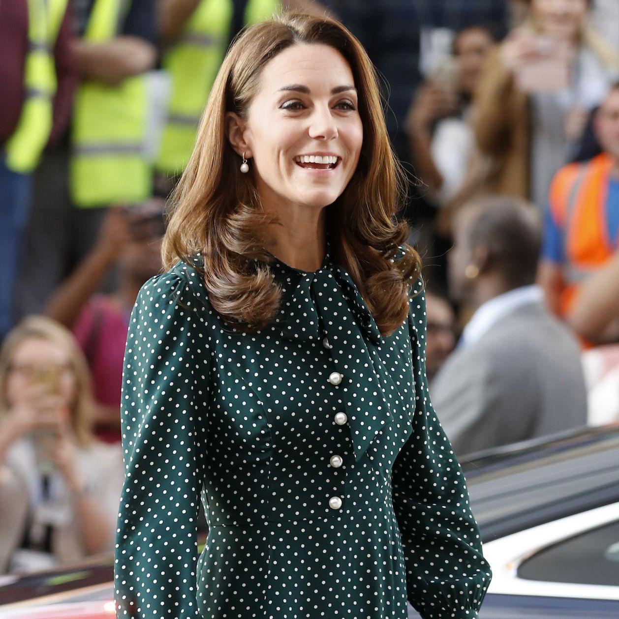 Kate Middleton Struck the Festive-But-Chic Balance in a Green Polka Dot Dress from L.K.Bennett