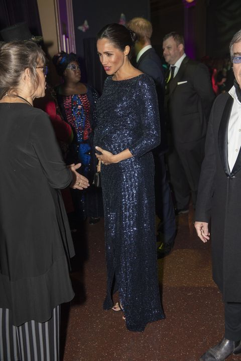 e0f88cda The Duchess of Sussex glitters in full-length sequins at Cirque du ...