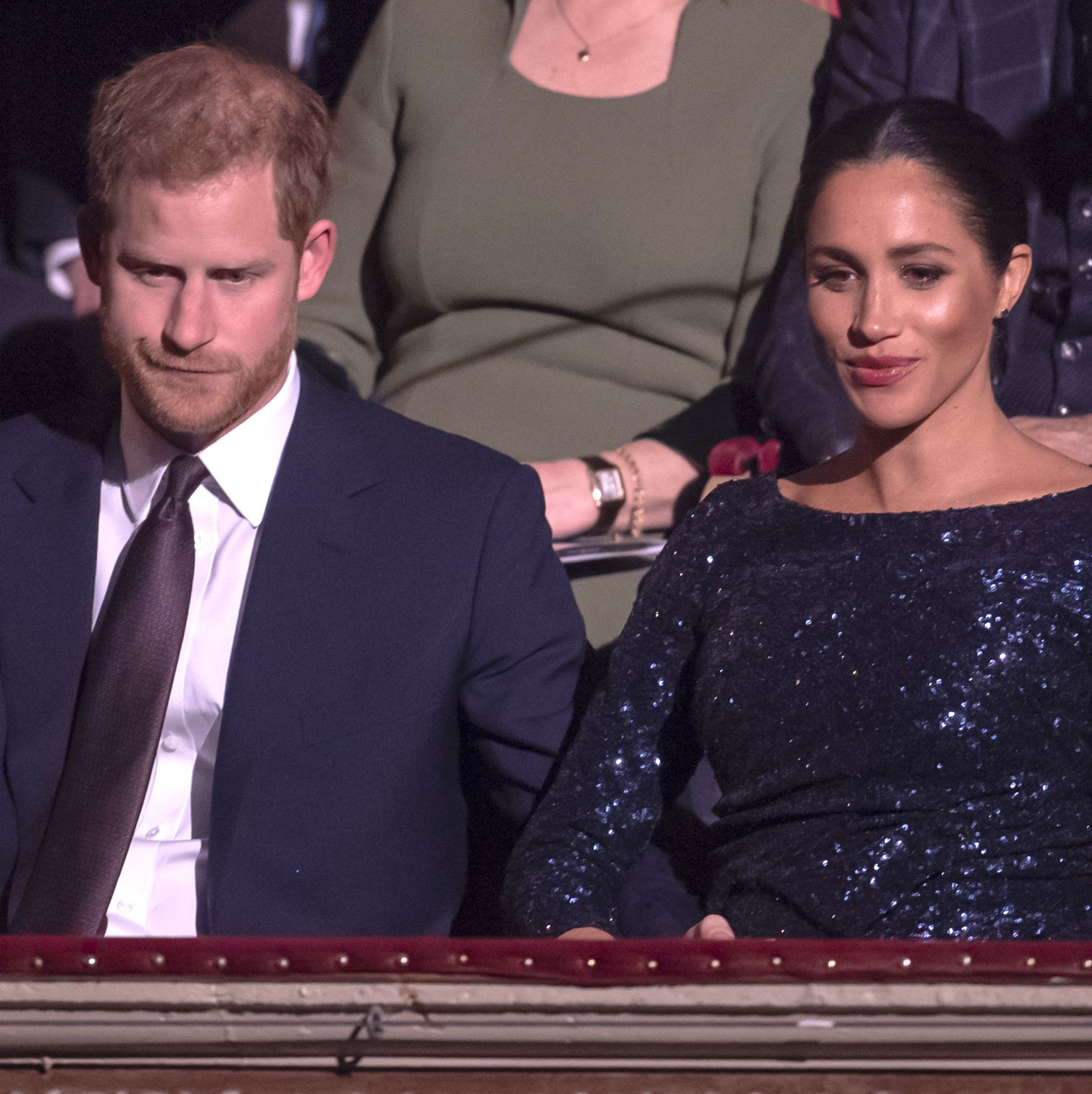 Meghan Markle and Prince Harry Were Caught Having the Most Adorable Secret PDA Moment Last Night