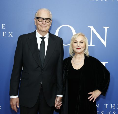 new york, new york   december 16 gary wenta and director mimi leder attend on the basis of sex new york city screening at walter reade theater on december 16, 2018 in new york city photo by john lamparskiwireimage