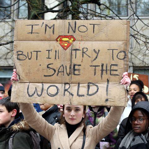 Protesta contra el cambio climático en Bélgica elle.es