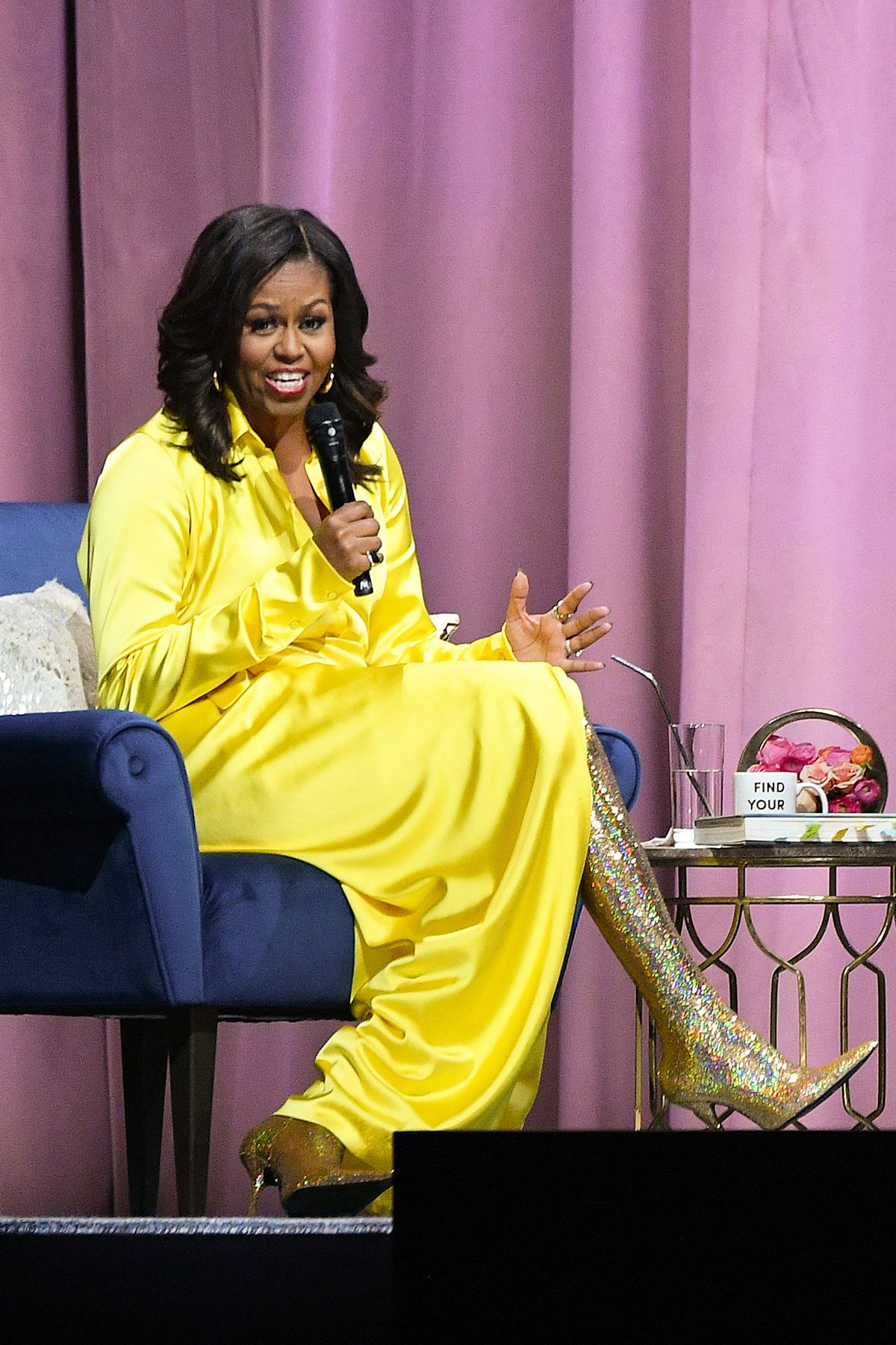 512b39e2469 Michelle Obama wore thigh-high Balenciaga boots