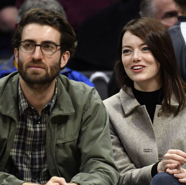 los angeles, ca   january 18 emma stone and dave mccary attend the golden state warriors and los angeles clippers basketball game at staples center on january 18, 2019 in los angeles, california note to user user expressly acknowledges and agrees that, by downloading and or using this photograph, user is consenting to the terms and conditions of the getty images license agreement photo by kevork djanseziangetty images
