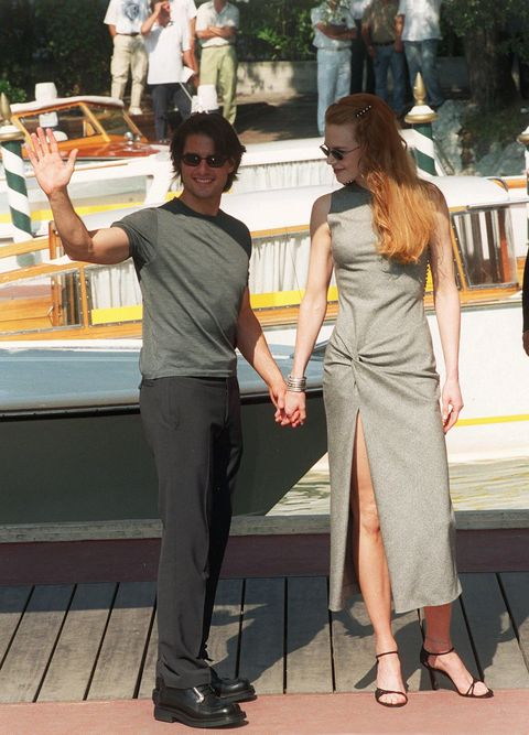 italy   september 01  venice film festival arrival of tom cruise and nicole kidman in venice, italia on september 01st , 1999  photo by eric vandevillegamma rapho via getty images