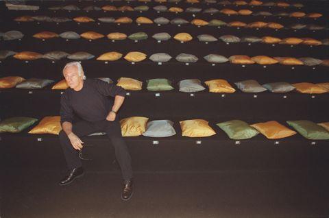 Giorgio Armani, fashion designer in Paris, France in March, 1998.