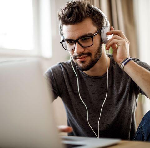 Eyewear, Glasses, Chin, Forehead, Sitting, White-collar worker, Technology, Electronic device, Gadget, Job,