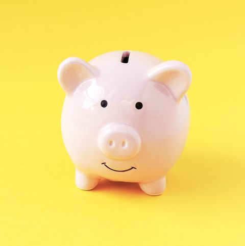Saving, Pink, Suidae, Domestic pig, Snout, Livestock, Piggy bank, Toy, Fawn, Animal figure,