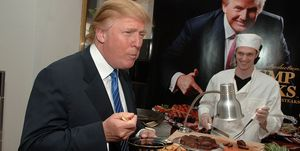 Donald Trump Eating Steak