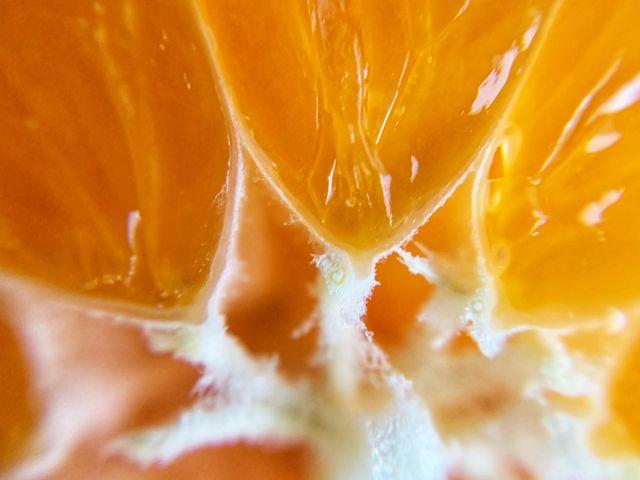 orange fruit section up close