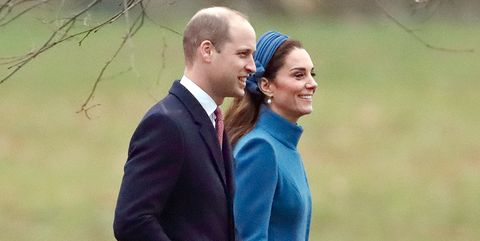 169920ac8007 Kate Middleton Wore A Matching Blue Catherine Walker Coat And ...