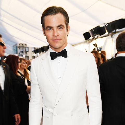 Suit, Formal wear, Clothing, White, Tuxedo, Fashion, Blazer, Bow tie, Outerwear, Tie,