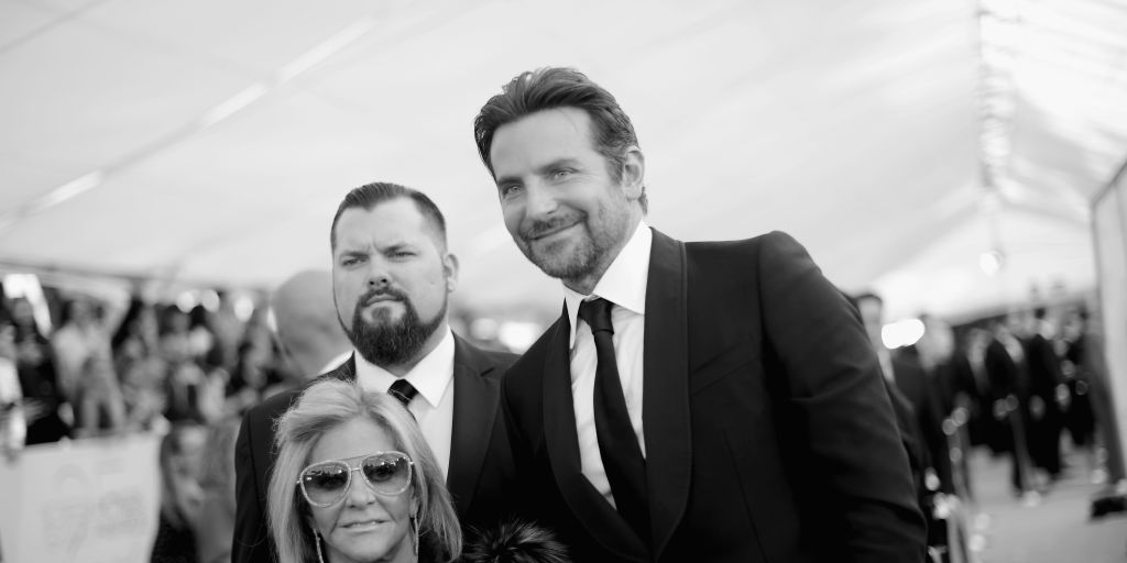 Gloria Campano and Bradley Cooper attend the 25th Annual Screen ActorsGuild Awards at The Shrine Auditorium on January 27, 2019 in Los Angeles, California
