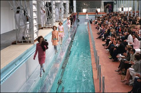 Fashion, Swimming pool, Leisure, Fun, Dress, Event, Recreation, Haute couture, Wedding dress, Ceremony,