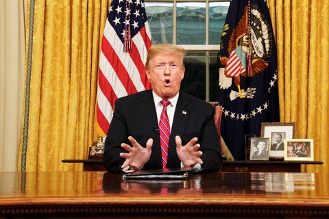 President Trump Addresses The Nation On Border Security From The Oval Office