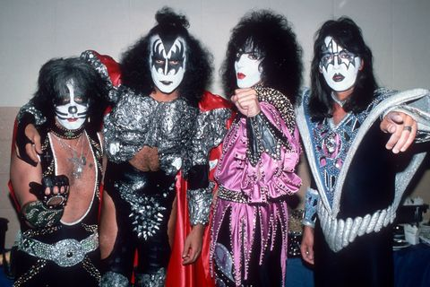 new york, ny  circa 1979 peter criss, gene simmons, paul stanley, and ace frehley of kiss at kiss concert on july 25, 1979 at madison square garden in new york city, new york photo by robin platzerimagesgetty images