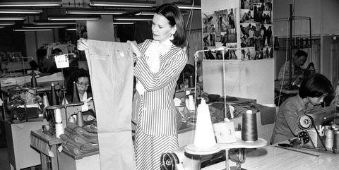 Dressmaker, Black-and-white, Fashion design, Room, Photography, Monochrome, Style, Shopkeeper,
