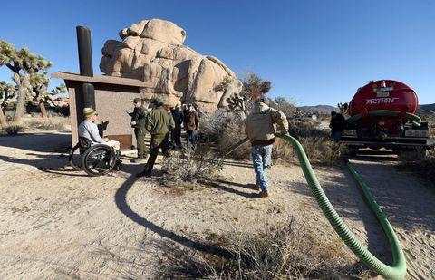 sewage pipe joshua tree shutdown