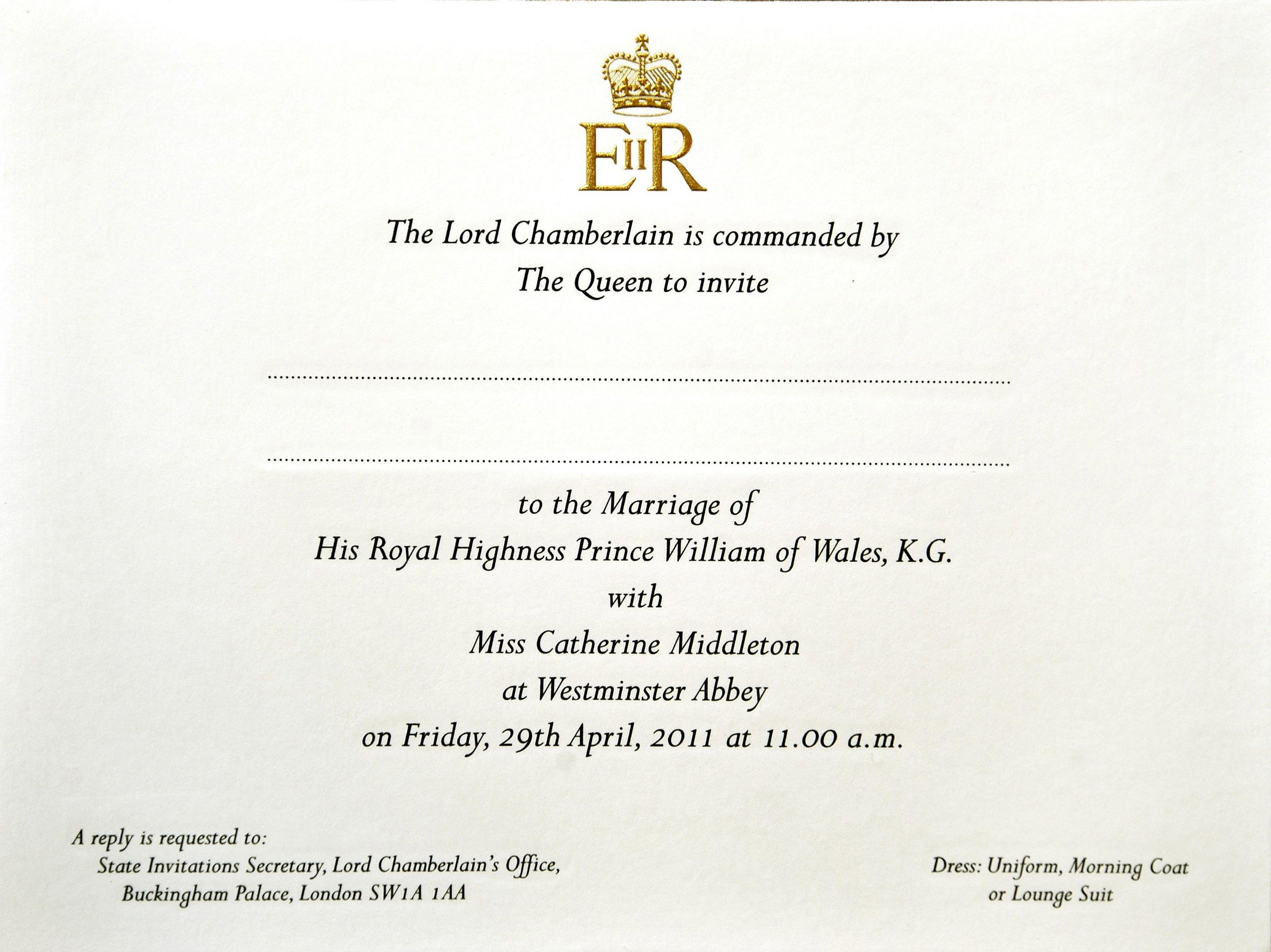 Prince Harry and Meghan Markles Wedding Invitations First Look at