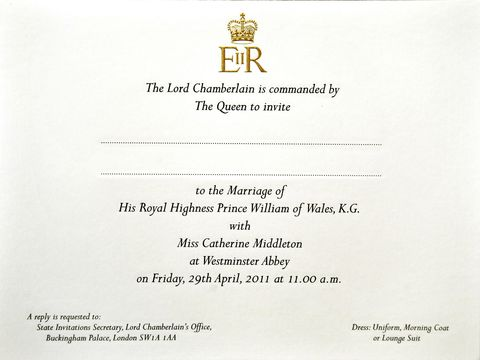 will and kates wedding invitation