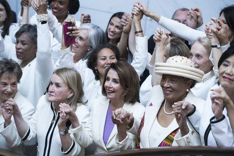 House Democratic Women Wear Suffragette White to State of the Union
