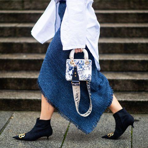 Street fashion, White, Blue, Photograph, Clothing, Jeans, Fashion, Snapshot, Footwear, Denim,