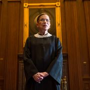 washington, dc   august 30 supreme court justice ruth bader ginsburg, celebrating her 20th anniversary on the bench, is photographed in the east conference room at the us supreme court in washington, dc, on friday, august 30, 2013 photo by nikki kahnthe washington post via getty images