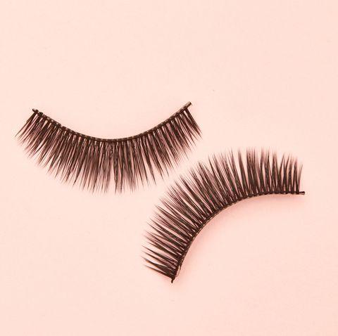 close up of false eyelashes