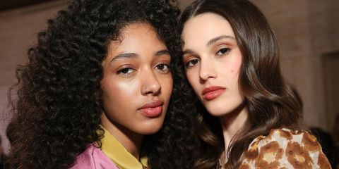 new york, ny   february 08  models pose backstage for tresemme at the kate spade show during ny fashion week on february 8, 2019 in new york city  photo by monica schippergetty images for tresemme