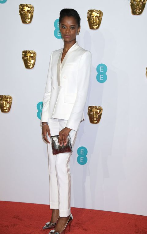 london, england   february 10  letitia wright attends the ee british academy film awards at royal albert hall on february 10, 2019 in london, england  photo by david m benettdave benettgetty images