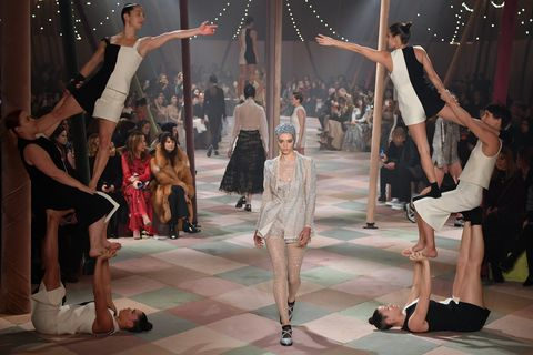 Dior Had Live Acrobats Perform on Its Couture Runway