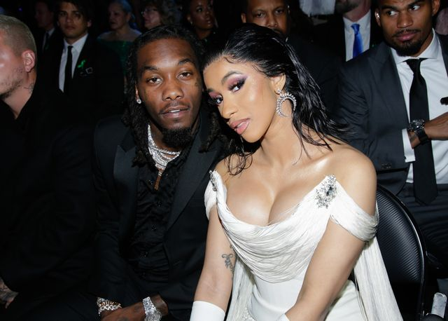 los angeles   february 10 offset and cardi b attend the 61st annual grammy awards, broadcast live from the staples center in los angeles, sunday, feb 10 800 1130 pm, live et500 830 pm, live pt 600 930 pm, live mt on the cbs television network  photo by francis speckercbs via getty images