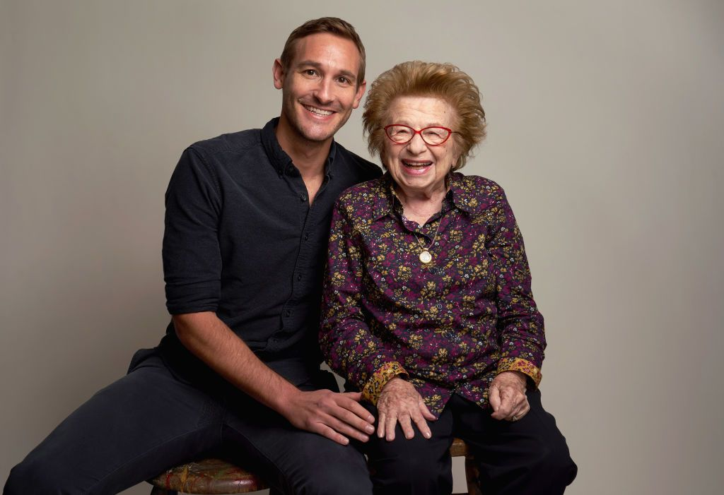 Director Ryan White with Dr. Ruth.