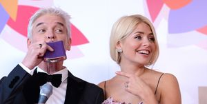 Phillip Schofield and Holly Willoughby drank from a hipflask backstage at the NTAs