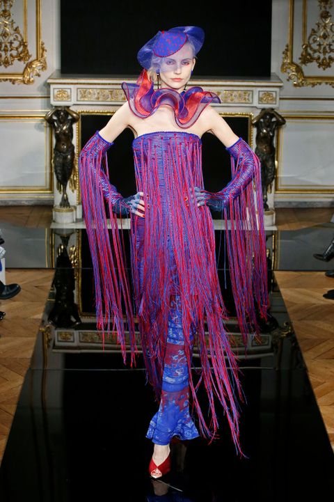 Clothing, Fashion, Fashion design, Costume design, Purple, Haute couture, Formal wear, Costume, Dress, Magenta,