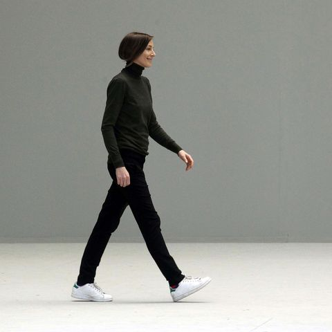 paris, france   march 06 phoebe philo walks the runway during the celine ready to wear autumnwinter 20112012 show during paris fashion week  on march 6, 2011 in paris, france photo by michel dufourwireimage