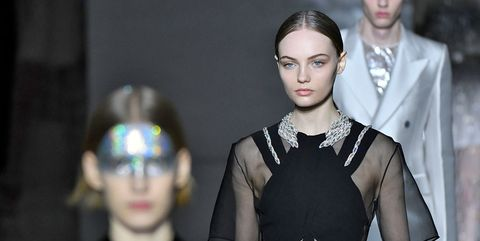 Fashion, Face, Head, Eyewear, Haute couture, Glasses, Fashion model, Fashion design, Vision care, Dress,