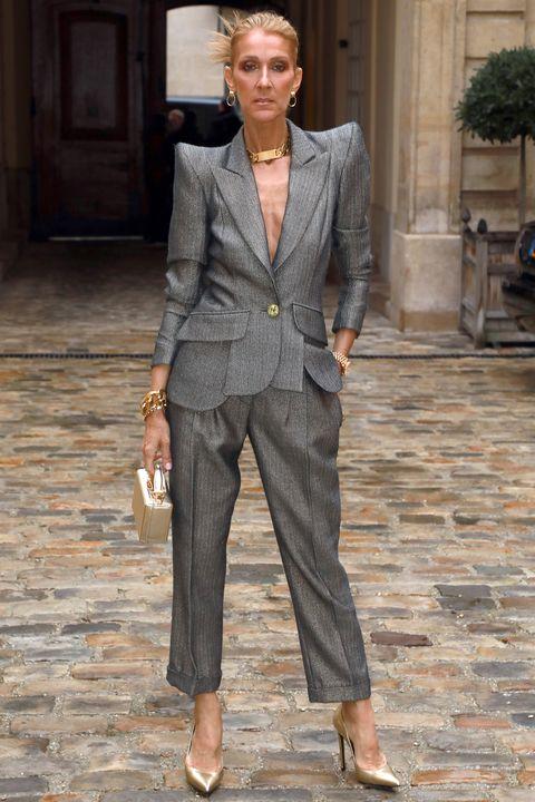 Suit, Clothing, Pantsuit, Fashion, Street fashion, Formal wear, Outerwear, Blazer, Human, Tuxedo,