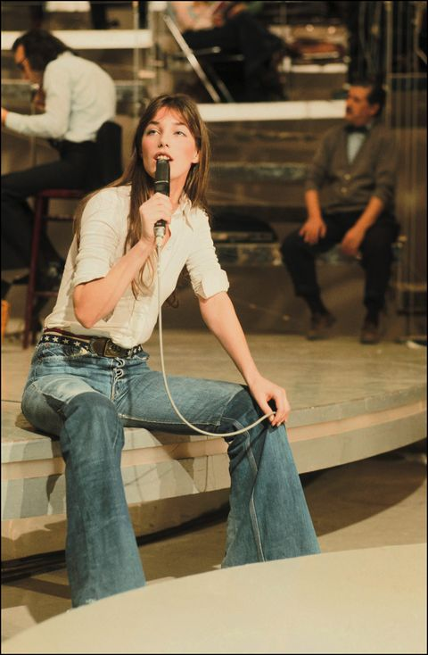 Archives of Jane Birkin in Paris, France in August, 1991.